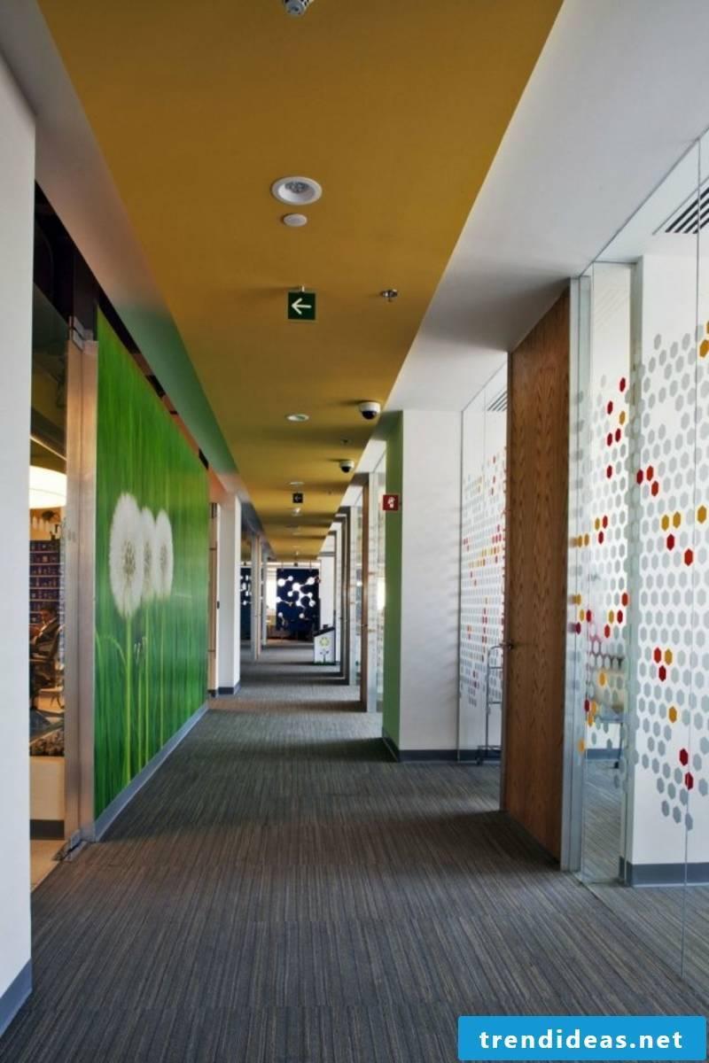 creative color design in the corridor