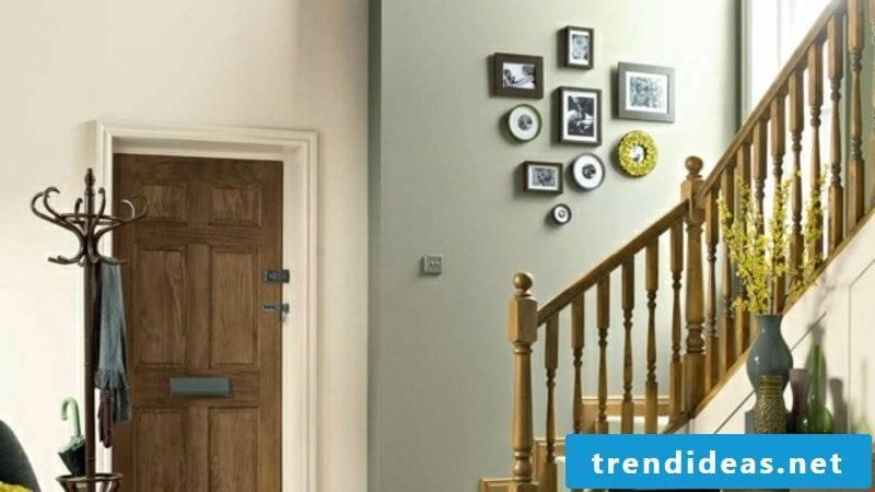 Color design in the corridor Pastel nuances