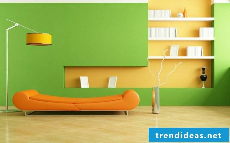 Trend Colors 2017 Wall Green Yellow Orange