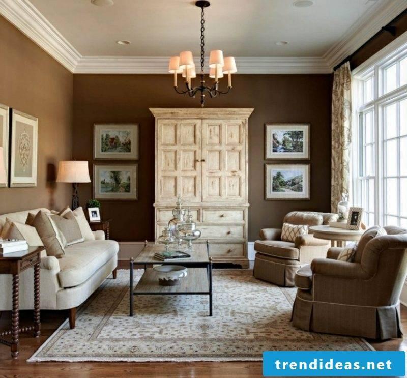 Living room wall color chocolate brown