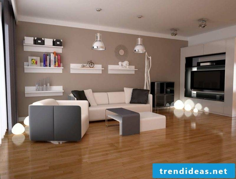 Colors wall design living room chocolate brown
