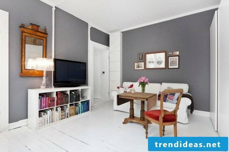 Furnishing living room Scandinavian style neutral color scheme