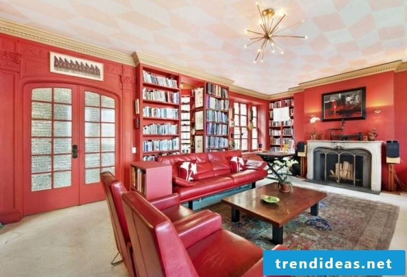 Trend colors 2017 wall design coral color