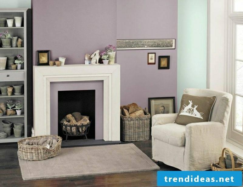 Trend colors 2017 lavender mint green living room design ideas