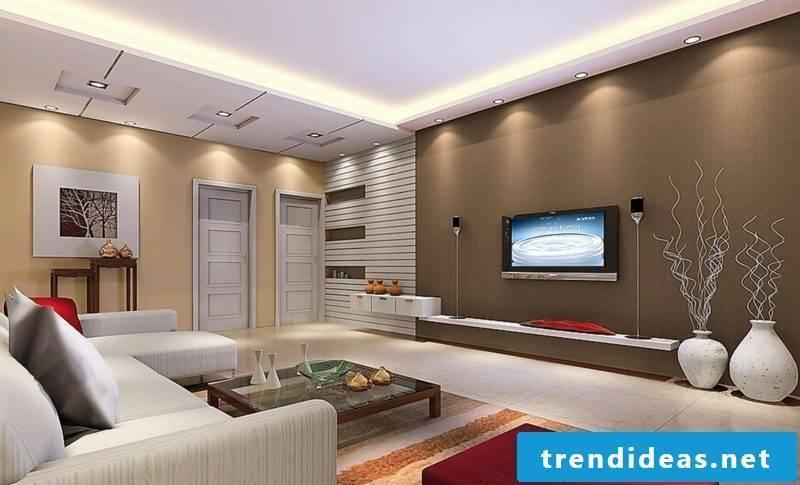 beautiful living wall color chocolate brown modern living room