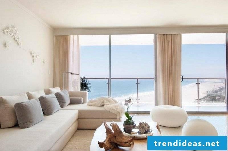 Interior Living room stylish wall pastel nuances