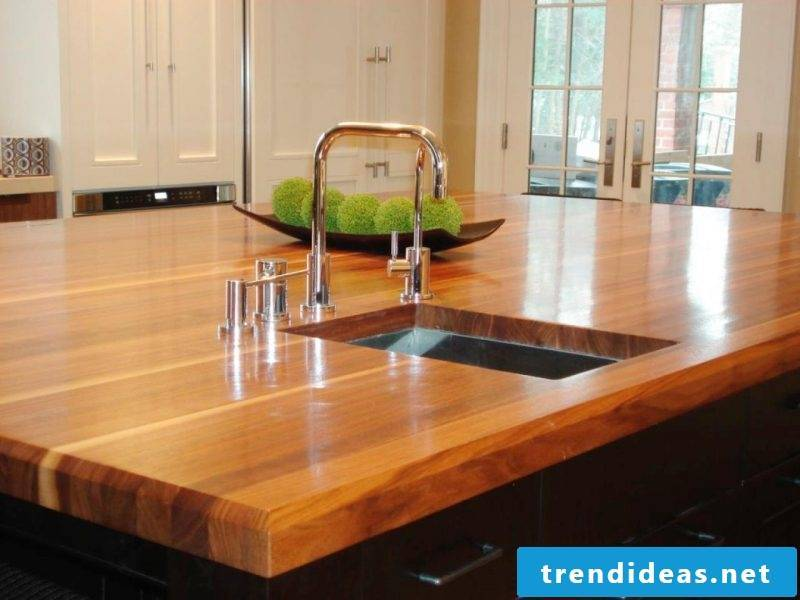 Kitchen tops solid wood