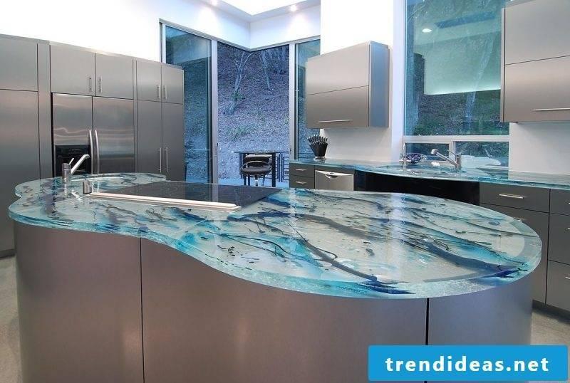 Kitchen tops glass