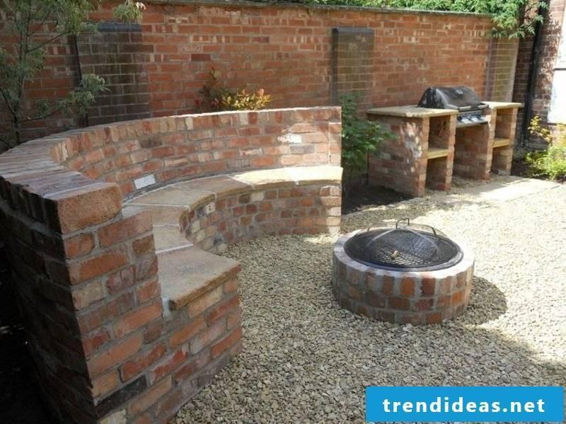 Barbecue seating garden