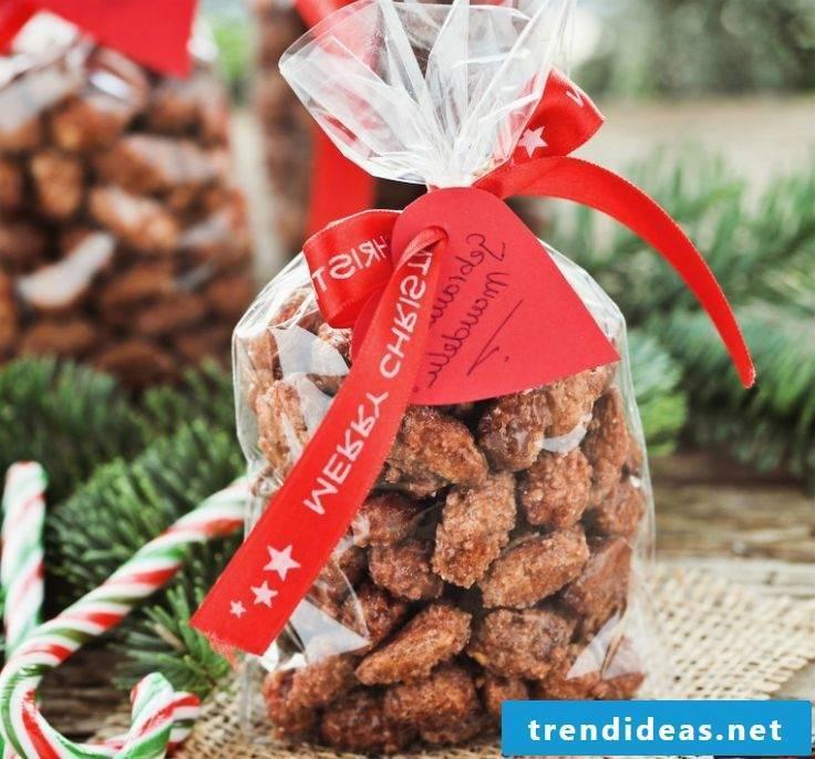 Nicholas presents almonds