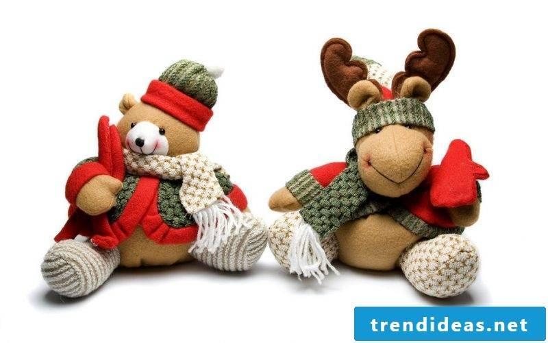 Santa Claus presents stuffed animals