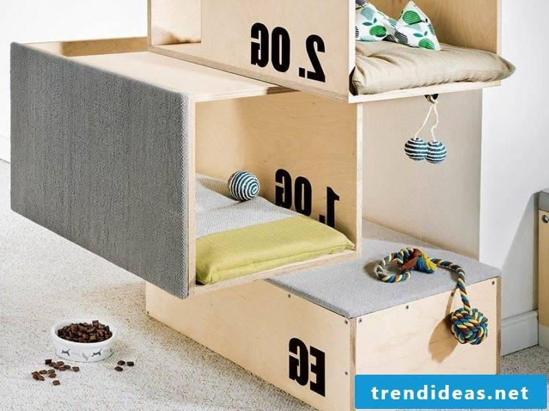 Cat furniture on floors