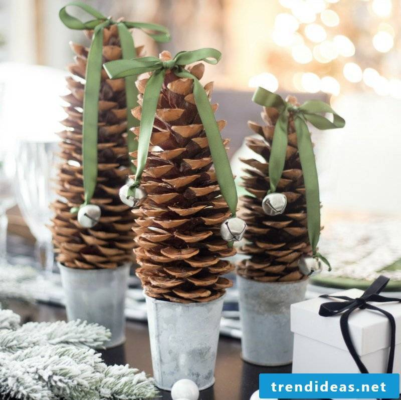 Tinker with pinecone ideas for Christmas