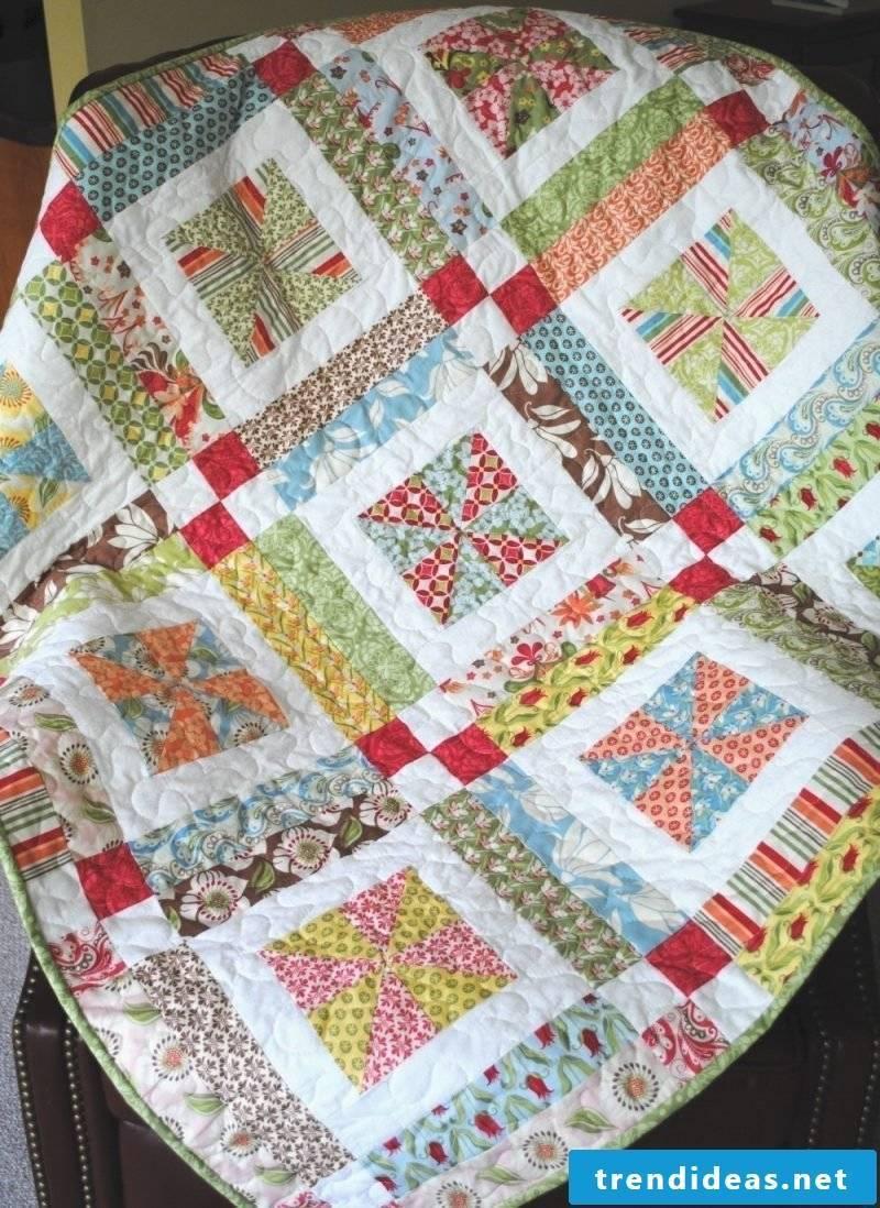 Patchwork blanket sew DIY ideas