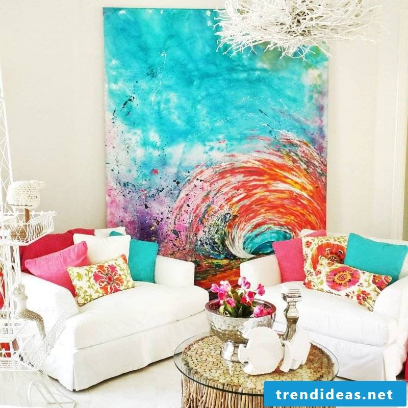 Paint your own pictures Interior design