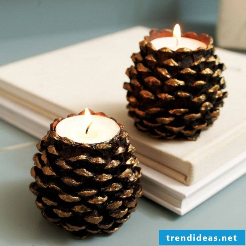 Tinker with pinecone candle ideas