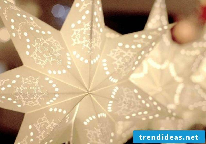 Handicrafts for Christmas paper stars make yourself