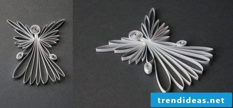 Handicraft tutorials for Christmas Quilling Angel make yourself