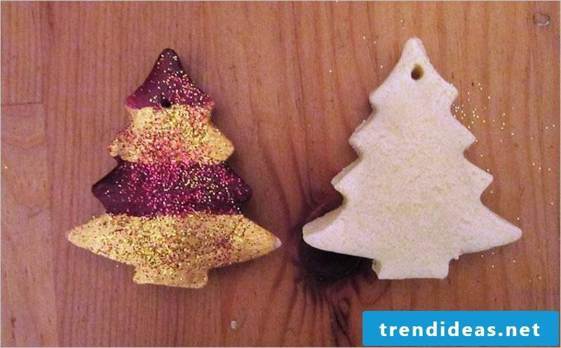 Crafting instructions for Christmas Decorate figures from salt dough with paint