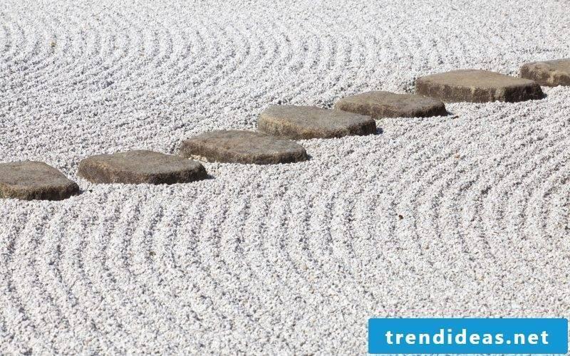 Zen garden stone path