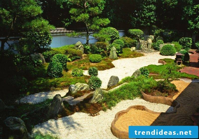 Japanese rock garden design