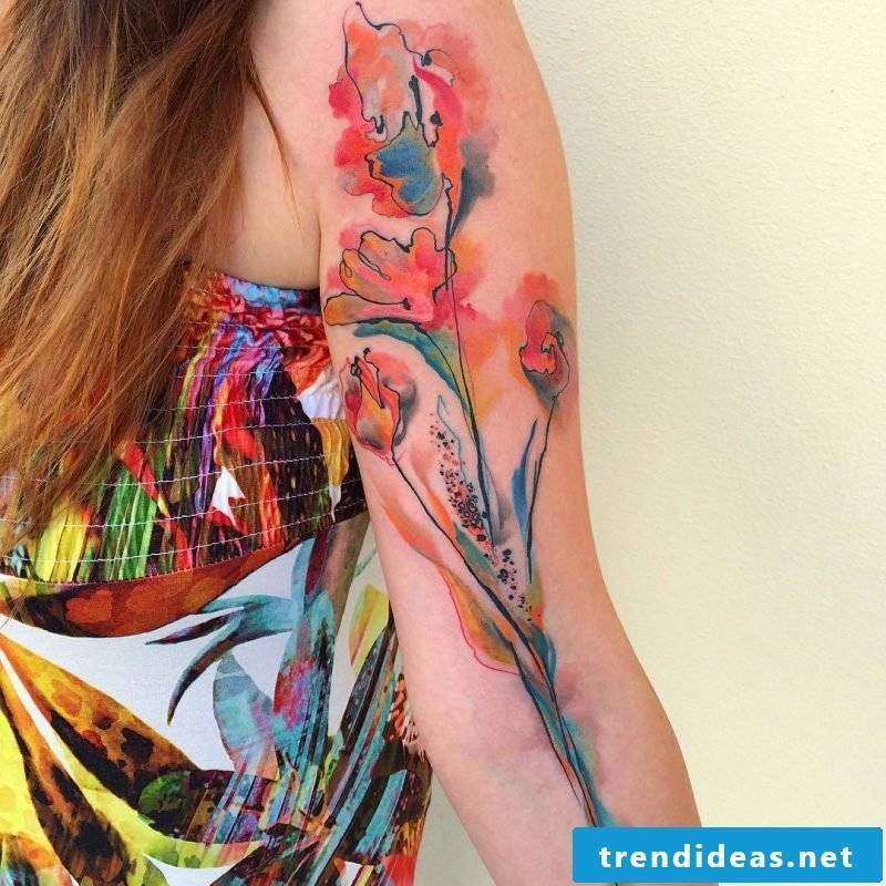 Tattoos of Ondrash in watercolor design