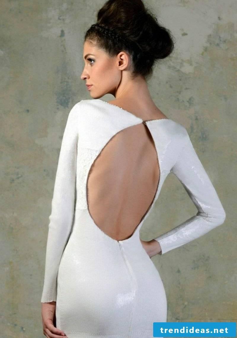 elegant backless bridal gown