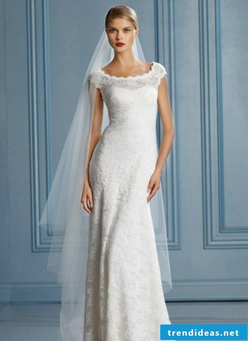 tight bridal gown lace