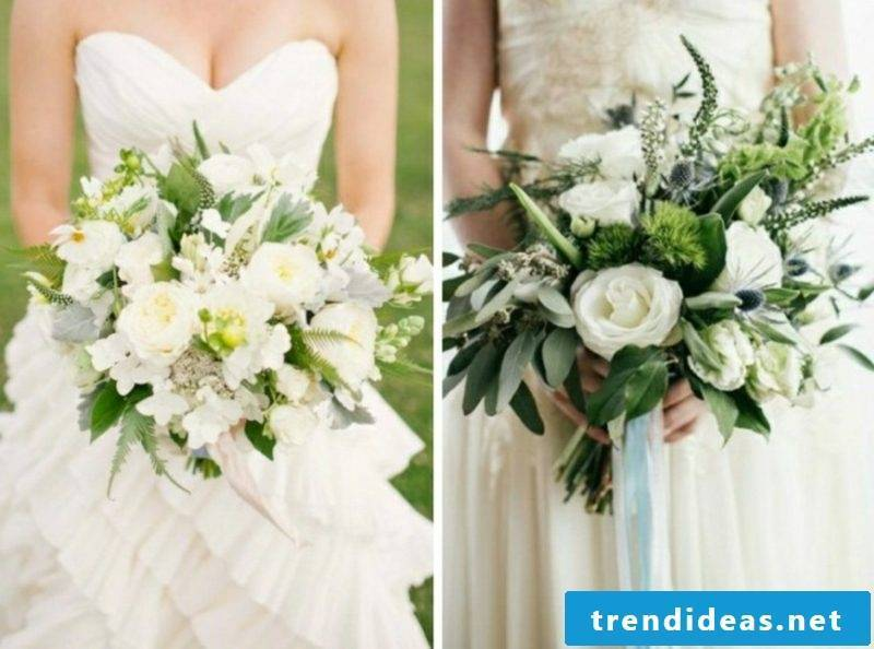 Bouquet in white creative ideas wedding