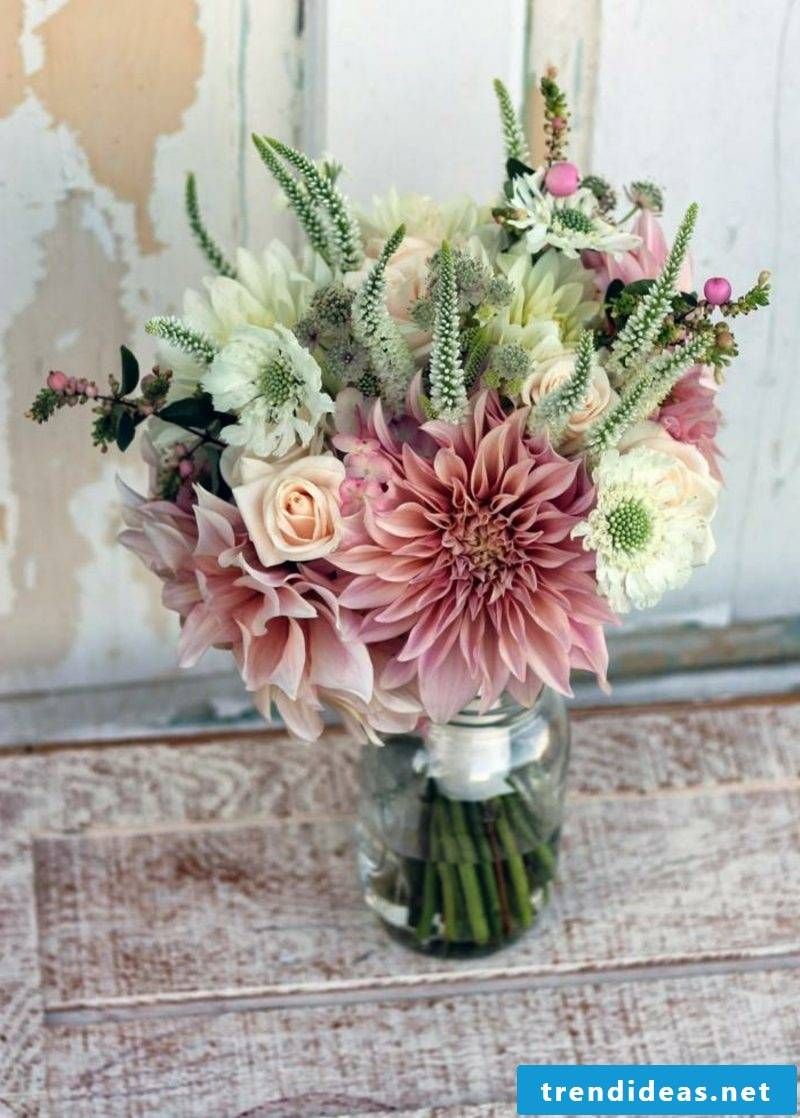 Bridal bouquet of wild flowers