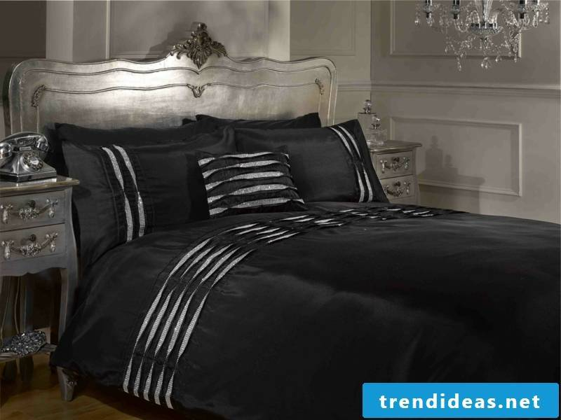 dark black luxurious sheets