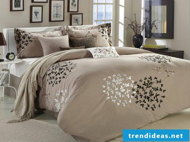 interesting beige luxury bed linen
