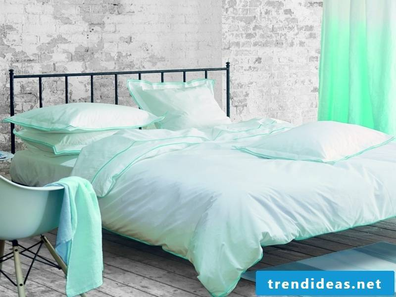 designer greenish luxury bed linen