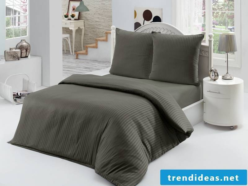 designer dark gray luxury bed linen