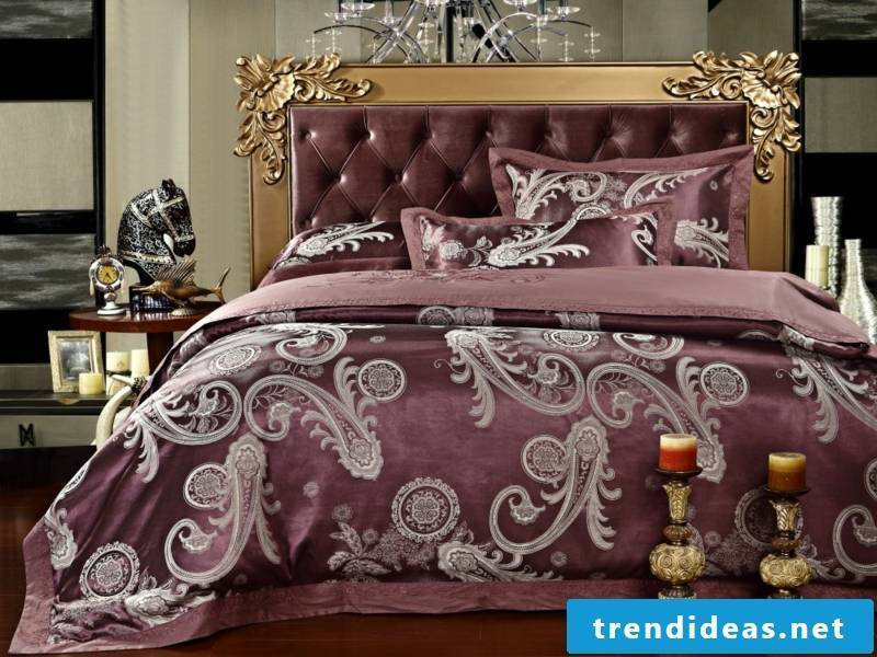 purple luxury bedding