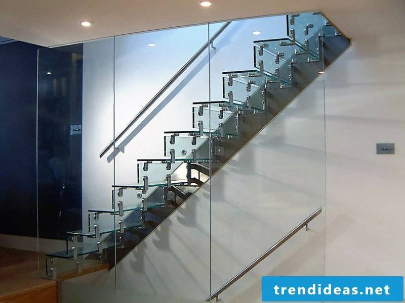 designer beautiful glass staircase
