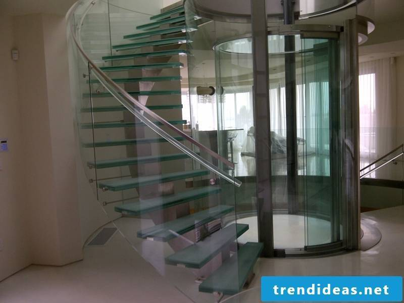 Classical with the older glass stairs