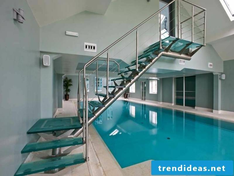 stairs to the swimming pool