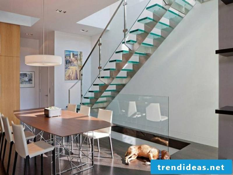 ultramodern glass stairs