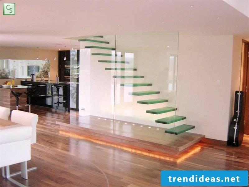 beautiful designer glass staircase