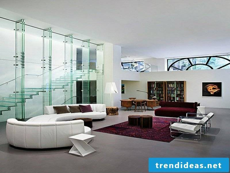 designer modern glass stairs