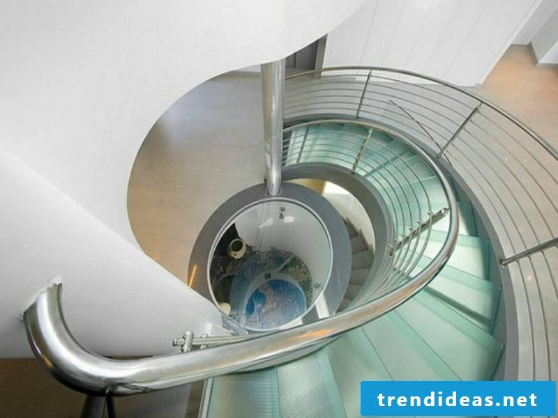 modern glass staircases