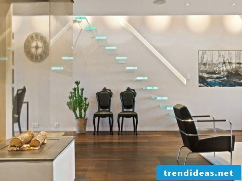 Led modern stairs