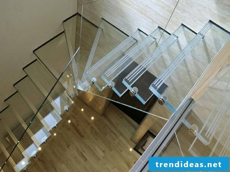 stylish modern glass stairs