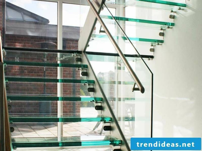 modern simple glass stairs