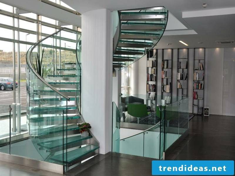 home office under the modern stairs