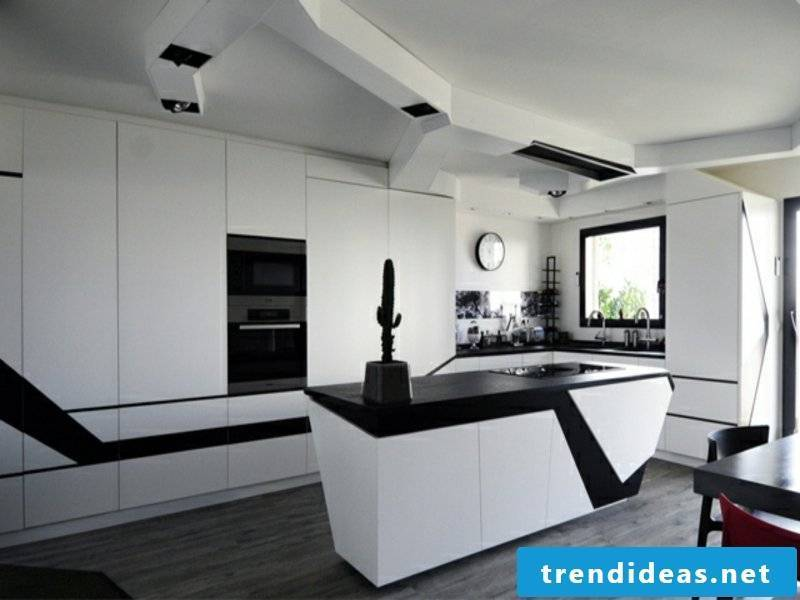 Black work surface with white textures