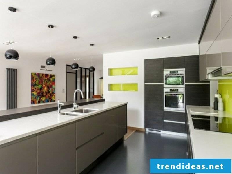modern gray kitchen island