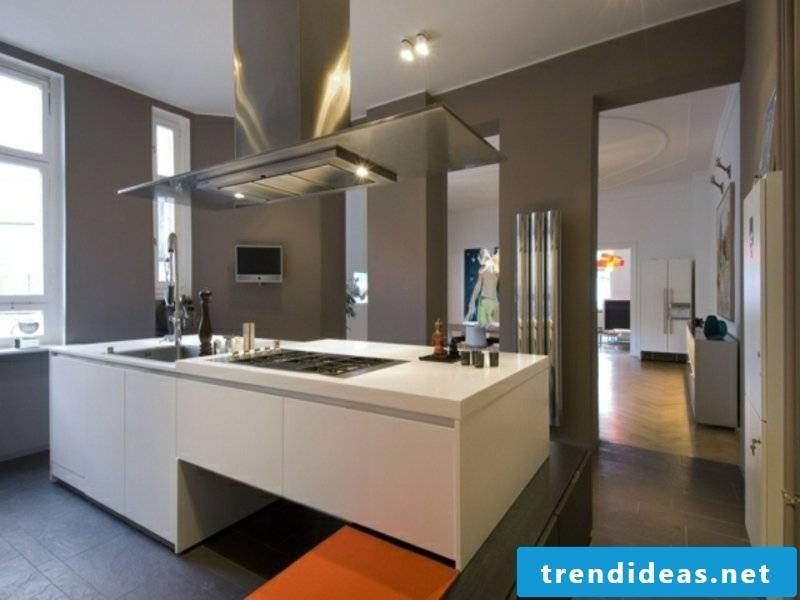 large kitchen island in the open kitchen