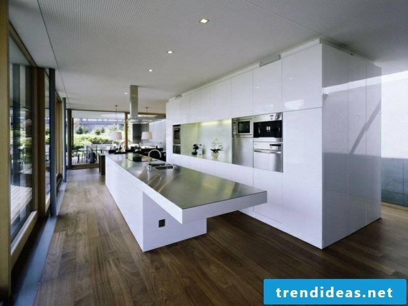 huge kitchen island in a minimalist kitchen